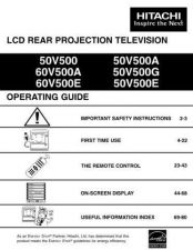 Buy Hitachi 50V500 50V500A Service Manual by download Mauritron #288185