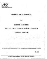 Buy Biddle PSA-100 Operating Guide by download #335930