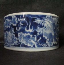 Buy ANTIQUE CHINESE BOWL VERY FINE 18TH CENTURY DRAGON WHITE BLUE PORCELAIN HAND