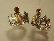 Buy Egyptian Winged Scarab ring Sterling Silver Meduim