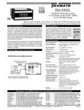 Buy Texmate DU-35CL (DU06)L9-8-03 Instructions by download #336511