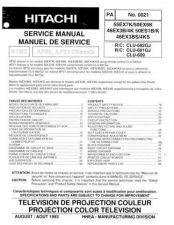 Buy Hitachi 50EX6K 50ES1B-K 46EX3B-4K Service Manual by download Mauritron #288114