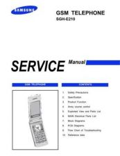 Buy Samsung SGH-E210 Mobile Phone Service Manual by download Mauritron #306317