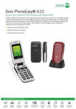 Buy Doro PhoneEasy 606 v10(r7721) Operating Guide by download Mauritron #331202