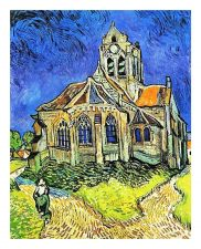 Buy Church at Auvers by artist Vincent Van Gogh. print painting unframed canvas