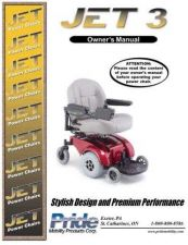 Buy Mobility Scooter PRIDE-JET3 Operating Guide by download Mauritron #325108