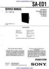 Buy Sony SA-ED1 Manual by download Mauritron #321602