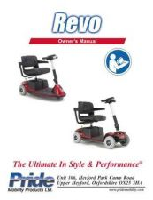 Buy Mobility Scooter PRIDE-REVO Operating Guide by download Mauritron #325111