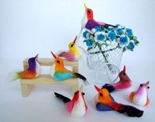 Buy 10 ARTIFICIAL BIRDS ORNAMENTS FOAM FLORAL CRAFTS DECORATIVE WEDDING MULTI COLOR