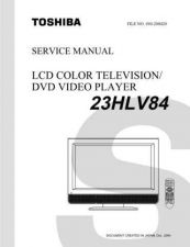 Buy Toshiba 23HLV84SVM Service Manual by download Mauritron #333160