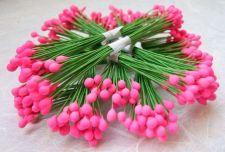 Buy 250 PINK ARTIFICIAL FLOWER POLLEN CRAFT SCRAPBOOK WEDDING WITH WIRE STEM NEW