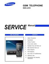 Buy Samsung SGH-J210 Mobile Phone Service Manual by download Mauritron #306378