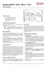 Buy Danfoss MP75 MP15 TS75 TS15 Operating Guide Instructions by download Mauritron #32828