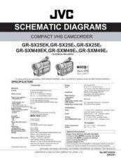 Buy JVC GR-SX25 GR-SXM49 SCHEM Service Manual by download Mauritron #279311