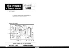 Buy Hitachi CT1334 Service Manual by download Mauritron #289382