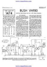 Buy BUSH VHF80 Wireless SERVICE SHEETS by download Mauritron #324887