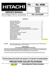 Buy Hitachi 46UX50B-51K-50UX52B-53K-60UX54B-55B-60SBX72B-70SBX74B Service Manual by downl