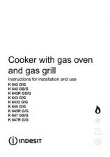 Buy Indesit K645 K6432 K647 K642 K643 Cooker Operating Guide by download Mauritron #32600