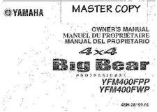 Buy Yamaha 4SH-28199-69 Quad ATV Bike Manual by download #334331