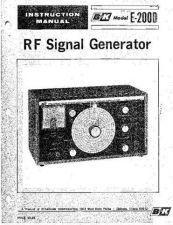 Buy B&K E-200D RF Signal Instruction Manual by download Mauritron #319625