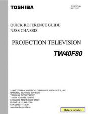 Buy Toshiba pjtv06 TV Service Manual by download Mauritron #323069