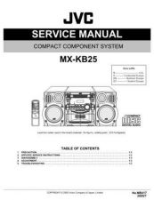 Buy JVC MX-KB25 Service Manual by download Mauritron #282948