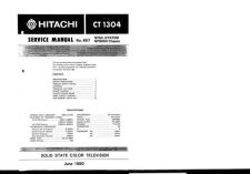 Buy Hitachi CT1306 Service Manual by download Mauritron #284942
