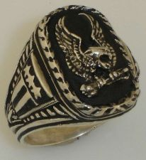 Buy American Silver Eagle ring sterling silver