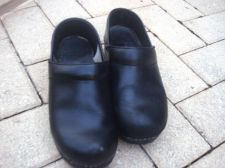 Buy Dansko BLACK Stapled Professional Clogs 37 US 7 M Black , NO SOLE R DRYING 7 M
