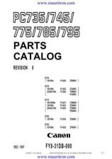 Buy CANON. PC-735-745-775-785-795_parts by download Mauritron #314767
