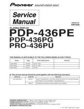 Buy Panasonic PDP-436PE-WYVIXK51[1] (2) Manual by download Mauritron #301050