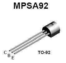 Buy Transistor - MPSA-92 PNP (TO-92) - 22 Pieces