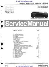 Buy Philips CDC935 Service Manual by download Mauritron #324742
