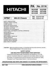 Buy Hitachi 36CX39B Service Manual by download Mauritron #284772