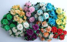 Buy 100 MIXED MULBERRY PAPER DAISY FLOWER ARTIFICIAL EMBELLISHMENT SCRAPBOOK 1.5 cm