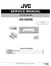 Buy JVC KD-S5050Parts Service Manual by download Mauritron #282104