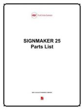 Buy Office Equipment SIGNMAKER 25 PARTS by download #335607