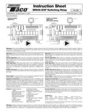 Buy Honeywell taco sr506expmanual Operating Guide by download Mauritron #317140
