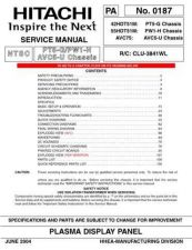 Buy Hitachi PT-61DX80A Service Manual by download Mauritron #290814