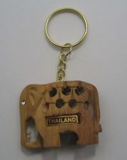 Buy NEW WOODEN THAI ELEPHEN UNISEX KEYCHAIN BROWN COLOR MODERN COLLECTIBLES