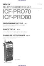 Buy Sony ICF-PRO70 Operating by download Mauritron #327105