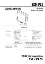 Buy Sony SDM-P82 TV Service Manual by download Mauritron #322973