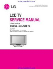 Buy LG 32LX2R Manual by download Mauritron #320827