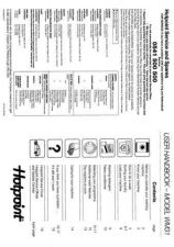 Buy Hotpoint WM31 Laundry Operating Guide by download Mauritron #314154