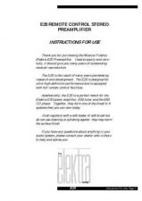 Buy Musical Fidelity E20 Operating Guide by download Mauritron #326890