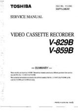 Buy Toshiba V859B Video Cassette Service Manual by download Mauritron #330082