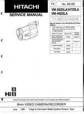 Buy Hitachi VME110A Service Manual by download Mauritron #286807