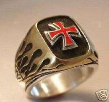 Buy NORMAN Cross Flame ring Sterling Silver