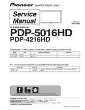 Buy Panasonic PDP-5016HD-KUCXC Manual by download Mauritron #301100