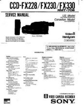 Buy Sony CCD-FX330 Service Manual by download Mauritron #330989
